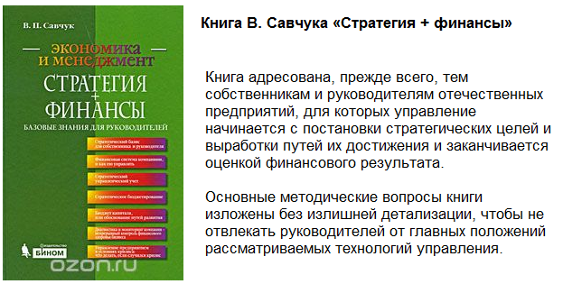 Книга Савчука Стратегия и финансы